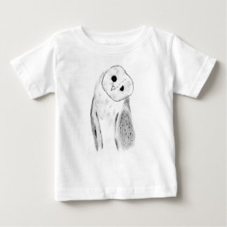 Unique Hand Drawn Barn Owl Baby T-Shirt