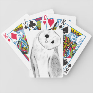 Unique Hand Drawn Barn Owl Bicycle Playing Cards