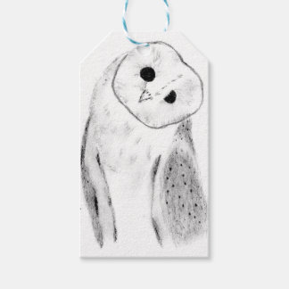 Unique Hand Drawn Barn Owl Gift Tags
