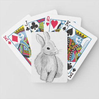 Unique Hand Drawn Bunny Bicycle Playing Cards