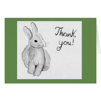 Unique Hand Drawn Bunny Card