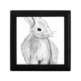 Unique Hand Drawn Bunny Gift Box