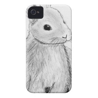 Unique Hand Drawn Bunny iPhone 4 Covers