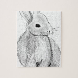 Unique Hand Drawn Bunny Jigsaw Puzzle