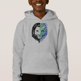 Unique Hand Drawn Mystic Lion Art Boy's Hoodie