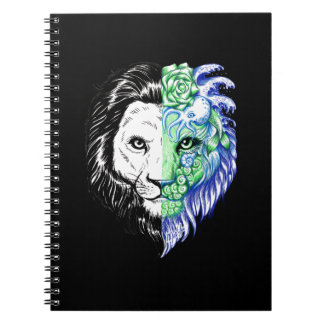 Unique Hand Drawn Mystic Lion Art Note Book