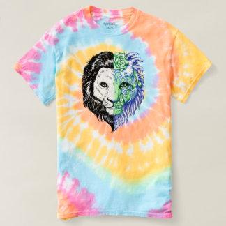 Unique Hand Drawn Mystic Lion Art Tie Dye T-shirt