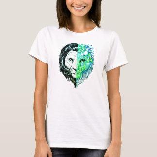 Unique Hand Drawn Mystic Lion Art Women's T-shirt