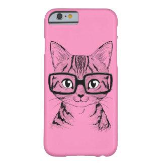 Unique Hand Drawn Nerdy Cat Art Phone Case