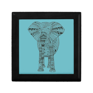 Unique Hand Illustrated Artsy Elephant Gift Boxes