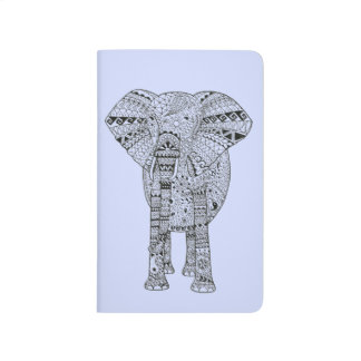 Unique Hand Illustrated Artsy Elephant Journal