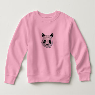 Unique Hand Painted Panda Art Toddler's Sweatshirt