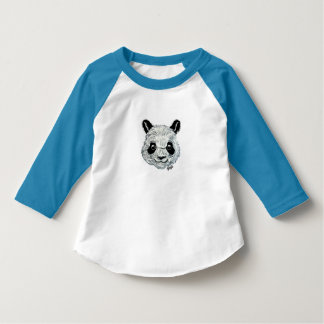 Unique Hand Painted Panda Toddler's Baseball Tee