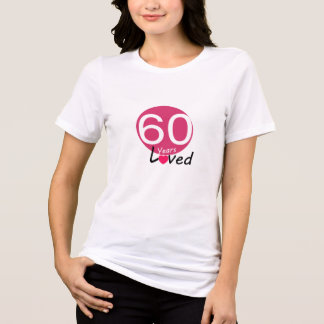Unique Happy Birthday Lady T-shirt    60 Years ful