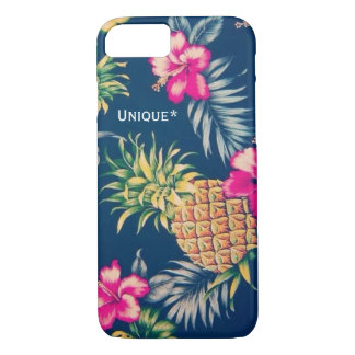 Unique Hawaiian design feat. pineapples & hibiscus iPhone 8/7 Case