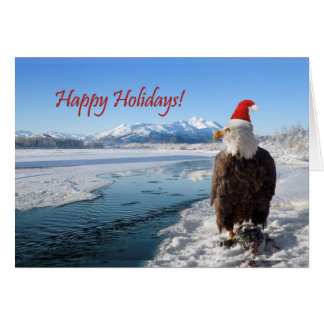 Unique holiday card with an Alaskan Eagle