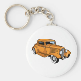 Unique Hot Rod Keychain