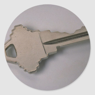 Unique House key Round Sticker