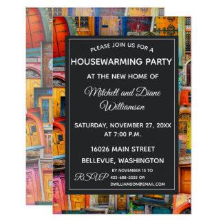 Unique Housewarming Party Invitation Doors