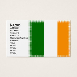 Unique Irish Flag Design Business Cards