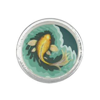 Unique Koi Carp Fish Rings