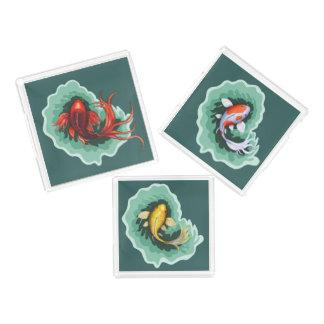 Unique Koi Fish Art Acrylic Tray