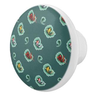 Unique Koi Fish Design Ceramic Knob