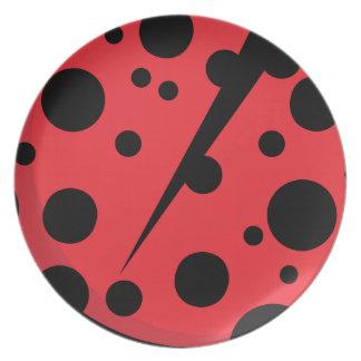 Unique lady bug designs party plates