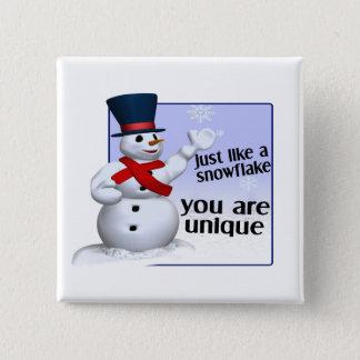 Unique Like A Snowflake 2 Inch Square Button