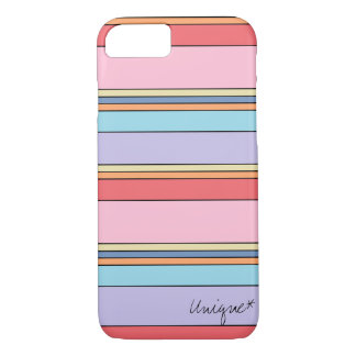 Unique linear motif cover with pastel colors