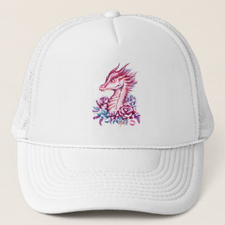 Unique Lipstick Dragon Art Hat