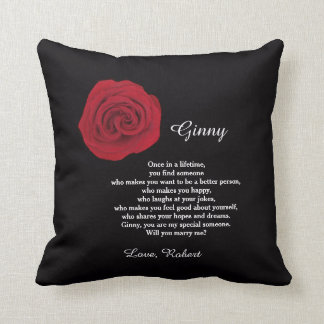 Unique Marriage Proposal Will You Marry Me Pillow