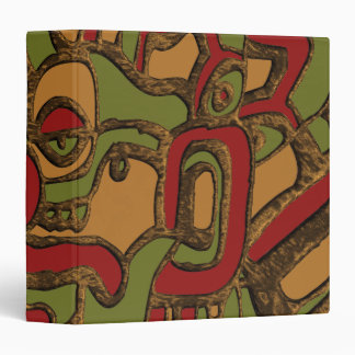 Unique Mayan Hieroglyphs Design 3 Ring Binders