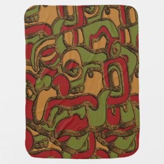 Unique Mayan Hieroglyphs Design Baby Blanket