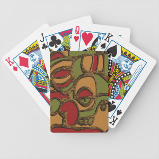 Unique Mayan Hieroglyphs Design Bicycle Playing Cards