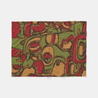Unique Mayan Hieroglyphs Design Fleece Blanket