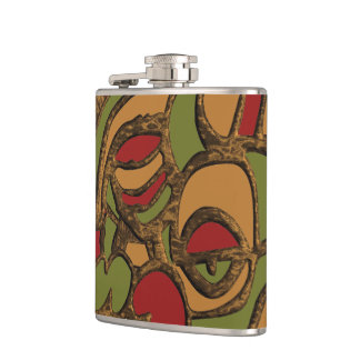 Unique Mayan Hieroglyphs Design Hip Flask