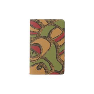 Unique Mayan Hieroglyphs Design Pocket Moleskine Notebook