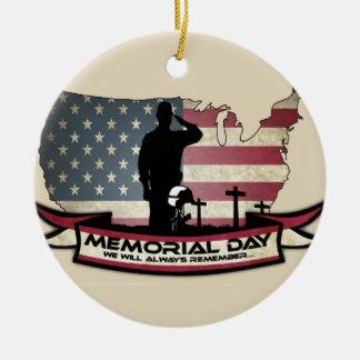 Unique Memorial Day honors Circle Ornament