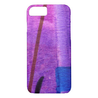 UNIQUE MODERN ABSTRACT ART PURPLE | IPHONE CASE