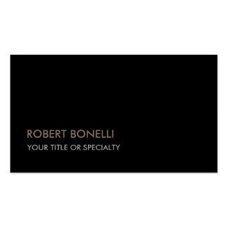 Unique Modern Black Stylish Pack Of Standard Business Cards