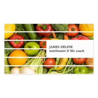 Unique Modern Colorful Vegetables Nutritionist Business Card