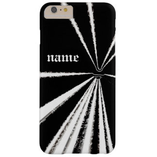 Unique modern stunning white on black iPhone case