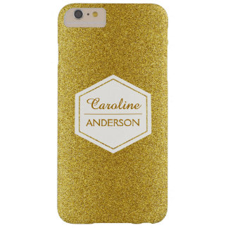 Unique Modern Stylish Gold Glitter Pattern Barely There iPhone 6 Plus Case