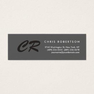 Unique Monogram Grey Slim Size Business Card