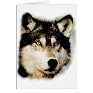 Unique Motivational Wolf Card