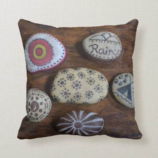 Unique Native American Folk Symbols Throw Pillow