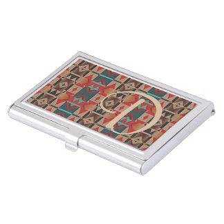 Unique Native American Indian Tribe Mosaic Pattern Business Card Case