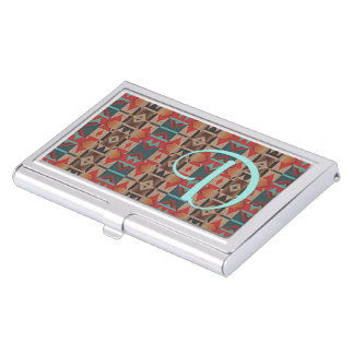 Unique Native American Indian Tribe Mosaic Pattern Case For Business Cards