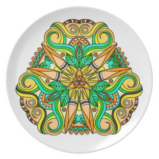 Unique Native American Inspired Design Plate